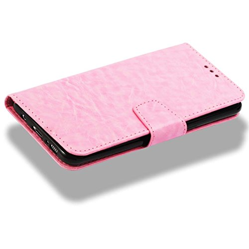 Flip Handyhüllen für Samsung S8 Plus, Samsung S8 Plus Leder Hüllen Flip Case, Magnetverschluss Kartenfach Ständer Handytasche für Samsung S8 Plus, Sehr Dünn Prägung Eleganter Flamingo Muster Abnehmbar C- Rosa
