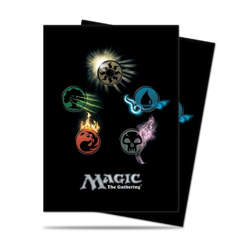The Magic Gathering Sleeves (Ultra Pro Mtg Mana 4 Symbol Deck Protector Sleeves (80) by Ultra Products)