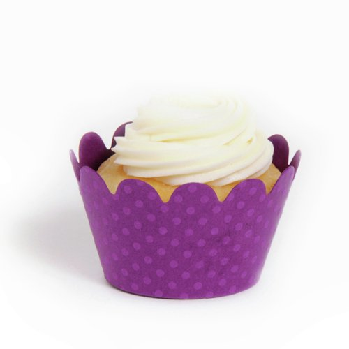 Dress My Cupcake Purple Wrappers