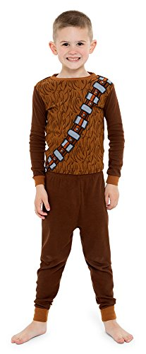 Star Wars Little Boy's 4-Piece Cotton Pajama Set, Black, 4 -