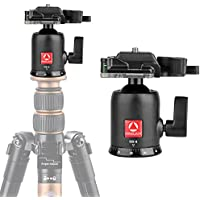 Kamisafe KINGJOY QB-0 Heavy Duty Photography Camera Tripod Ball Head 360 Degree Rotation Panoramic Ballhead with 1/4 Screw Quick Release Plate for DSLR Camcorder Slider Monopods Tripods