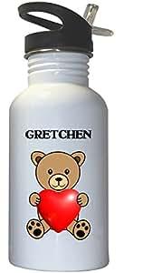 Gretchen White Stainless Steel Water Bottle Straw Top, 1009