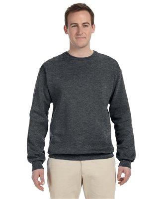 Jerzees mens 8 oz. 50/50 NuBlend Fleece Crew(562)-CHARCOAL GREY-L for $<!--$12.87-->