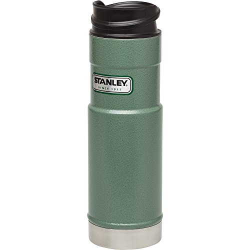 Stanley Classic One Hand Vacuum Mug 20oz Hammertone Green