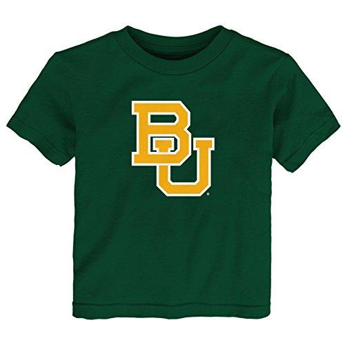 NCAA Baylor Bears Primary Logo RP Short Sleeve Tee, 2 Tall, Dark Green