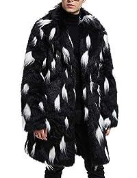 Mens Winter Warm Faux Fur Lined Coat Jacket