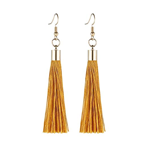 060590d2b Image Unavailable. Image not available for. Color: Fringe Tassel Earrings &  Gold Color Vintage ...