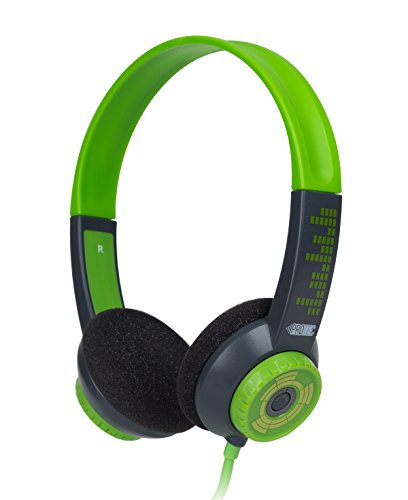 FSL Protec Kids Headphones with Adjustable Volume Limiting (Green) by FSL