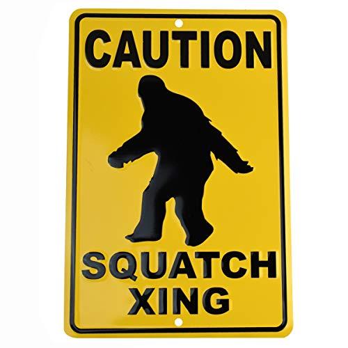 TG,LLC Funny Sasquatch Crossing Warning Sign Bigfoot Garage Man Cave Home Wall -