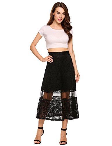 Fully Lined Linen Skirt (Zeagoo Women's Vintage High Waist A-Line Long Midi Skirt)
