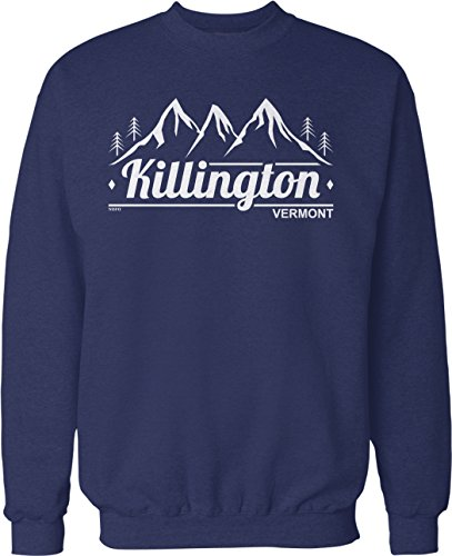 (NOFO Clothing Co Killington, Vermont Crew Neck Sweatshirt, L Navy)
