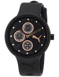 Puma Women's MOTOR PU910412004 Black Polyurethane Quartz Watch with Black Dial