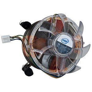 """Intel Socket 1366 Copper Core/Aluminum Heat Sink & 4"""" Fan w/4-Pin Connector up to Core i7 Extreme 3.2GHz"""