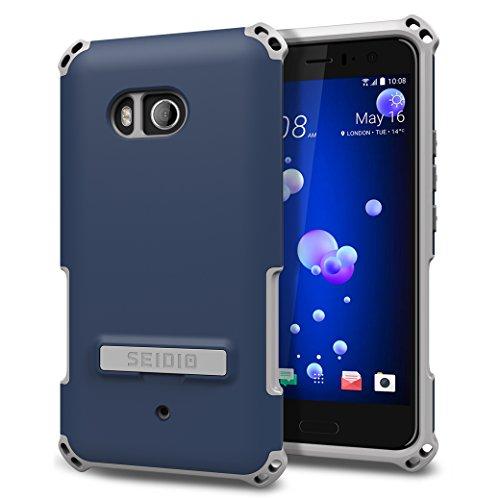 - Seidio Dilex Case with Kickstand for HTC U11 (Midnight Blue/Gray)