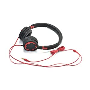 Gear Head HQ4750RED Dynamic Bass Stereo Headphones with Noise Isolation, Red