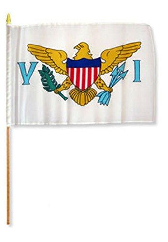 Cheap US Virgin Islands 12″x18″ Stick Flag (12)