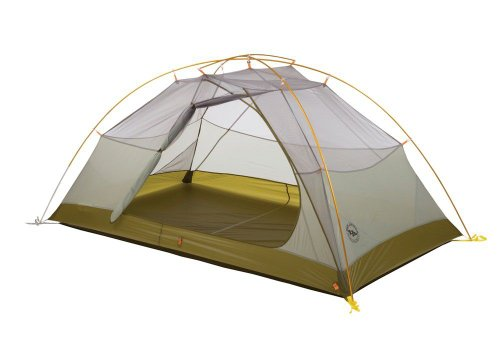 Big Agnes Fishhook UL Tent: 2-Person 3-Season Light Grey/Moss, One Size, Outdoor Stuffs