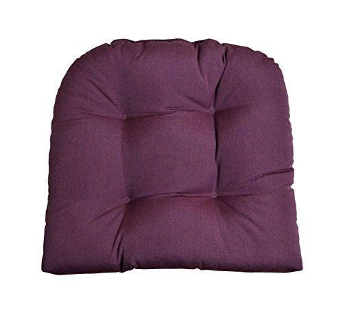 Sunbrella Canvas Iris Purple Wicker Chair Cushion - Indoor / Outdoor 1 Tufted Wicker Chair Seat Cushion Acrylic Iris