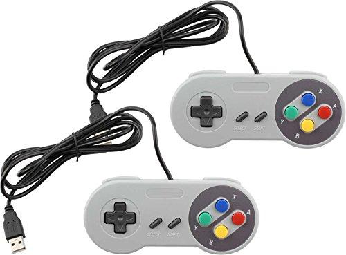 USB Controller for Super Nintendo SNES PC/MAC/Windows (2-Pack)