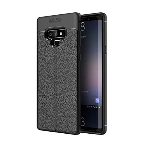 Price comparison product image ANERNAI Galaxy Note 9 Case, Ultra Thin Shockproof Premium Leather PU Soft TPU Bumper Cover for Samsung Galaxy Note 9 (Black)