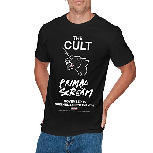GEORGE MANNING Mens Fashion Win Tickets to The Cult T-Shirts S Black]()