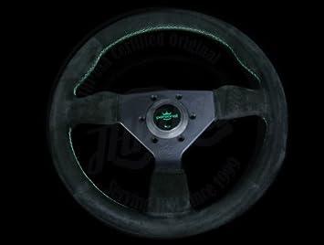 Personal Neo Grinta Black Suede W/ Green Stitch 330mm