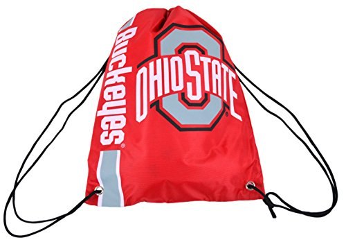 Official National Collegiate Athletic Association Fan Shop Authentic Drawstring NCAA Back Sack (Ohio State Buckeyes)