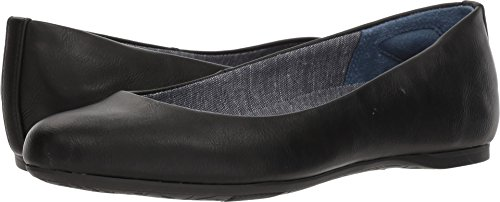 Dr. Scholl's Shoes Women's Giorgie Ballet Flat, Black Smooth, 7.5 W US
