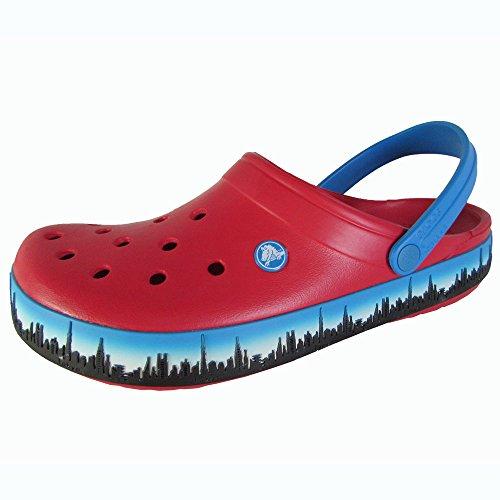 Crocs Mens Crocband Tokyo Skyline Clog Shoes, Red, US 11