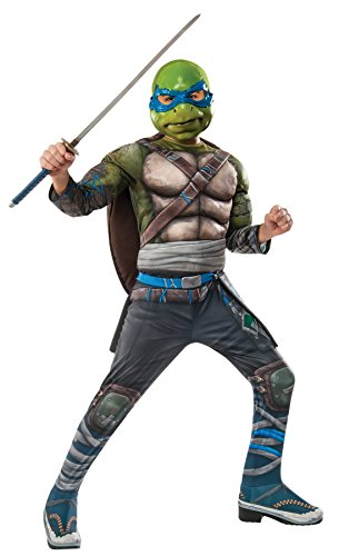 UHC Deluxe Teenage Mutant Ninja Turtles Leonardo Outfit Kids Halloweem Costume, S (4-6) ()