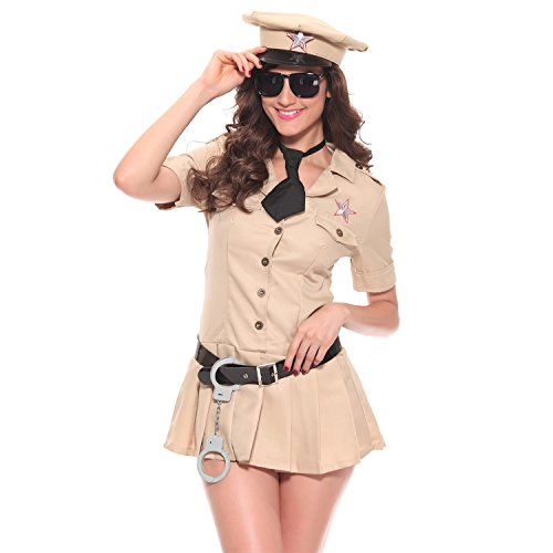Halloween Police Woman Costume Dead (Halloween Women Sexy Cosplay Police Costumes Dress Coat T Shirt Bikini)