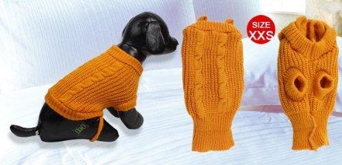 Picture of TOOGOO(R) Turtleneck Tea Cup Poodle Winter Sweater Clothing Apparel Orange XXS