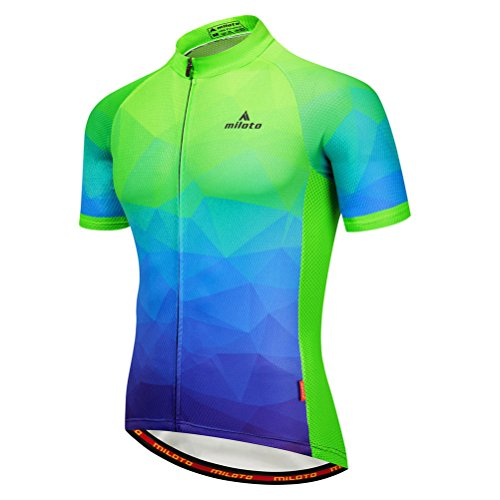 - Uriah Men's Cycling Jersey Short Sleeve Breathable Fluorescence Green Size XXL(CN)
