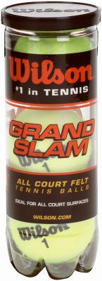 Wilson WRT1043 ''Grand Slam'' Heavy Duty Tennis Balls, 3-Pack