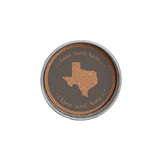 Occasionally Made 4 x 4 x 1 Texas Mason Jar Lid Coaster Stack by Occasionally Made