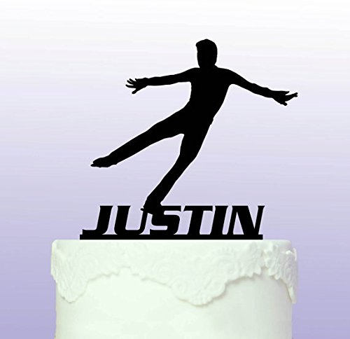 Personalised Ice Skater Cake (Ice Skater Cake Toppers)