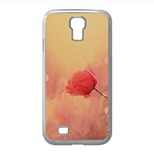 Late Summer Poppies Watercolor style Cover Samsung Galaxy S4 I9500 Case (Flowers Watercolor style Cover Samsung Galaxy S4 I9500 Case)
