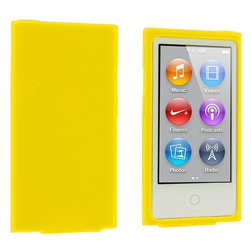 ANiceSeller(TM) Color Silicone Soft Rubber Gel Skin Case Cover for iPod Nano 7th Generation 7G 7 (Yellow)