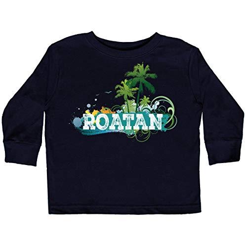 inktastic - Roatan Honduras Vacation Toddler Long Sleeve T-Shirt 4T Black