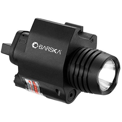 BARSKA Green Laser with 200 Lumen Flashlight, Black