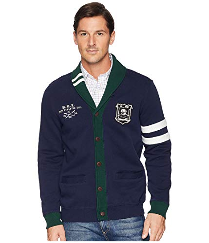 Ralph Lauren Polo Men's Shawl Cardigan Medium Navy (Mens Polo Cardigan)