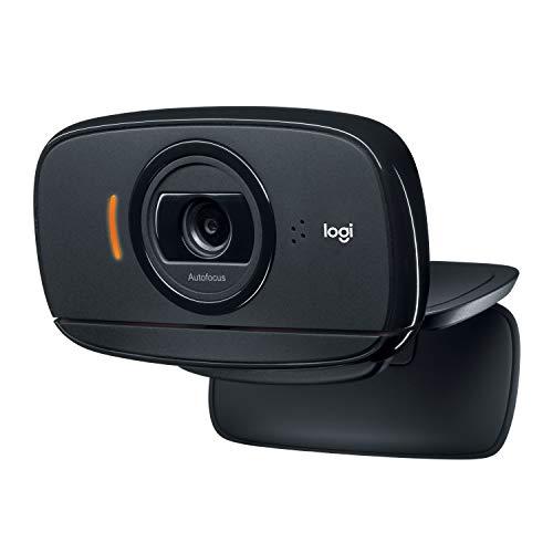🥇 Logitech C525 Portable HD Webcam con enfoque automático rápido y diseño giratorio de 360 grados – Negro