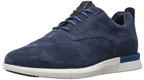 Cole Haan Men's Grand Horizon Oxford II, Marine Blue Suede/Ivory, 13 Medium US