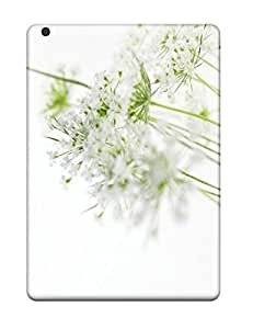 DebAA Ipad Air Hybrid Tpu Case Cover Silicon Bumper S White Flowers X Pixels Tagged Flower