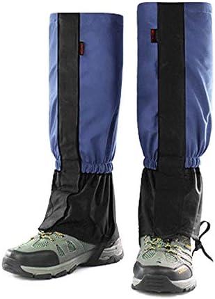 シューズカバー 1 - 雨靴防水ハイキングシューズは足カバーラップ女性男性子供山のハイキングスキー登山狩りレギンスレギンス足のレギンスは非常に通気性と耐久性のあるカバーカバー 通勤 通学 自転車用 (Color : Blue, Size : Children)