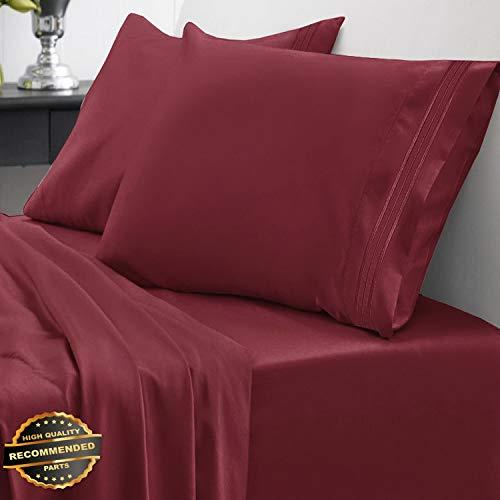 Gatton New Premium Egyptian Comfort 1800 Thread Count 4 Piece Bed Sheet Set Deep Pocket   LINENIENHM-182011176 California King (Kohls Pillows Toss)