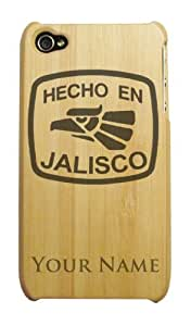 Bamboo iPhone 4/4S Case/Cover - HECHO EN JALISCO - Personalized for FREE (Click the CONTACT SELLER link after purchase to tell us your engraving request)