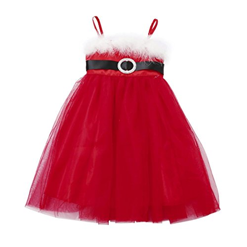 HOT SALE!!2-6 Years Old Baby Girls Christmas Outfits Clothes Dress,Toddler Kids Tutu Princess (Red, -
