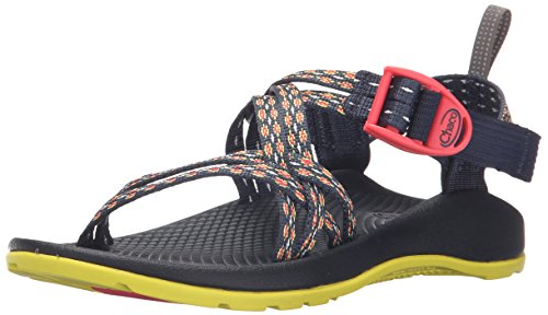 Chaco ZX1 Ecotread Kids Sport Sandal (Toddler/Little Kid/Big Kid), Crest Citrus, 4 M US Big Kid ()