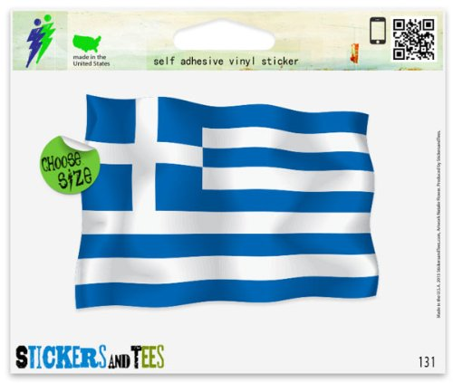 - Greece Greek Flag Car Sticker Indoor Outdoor 6